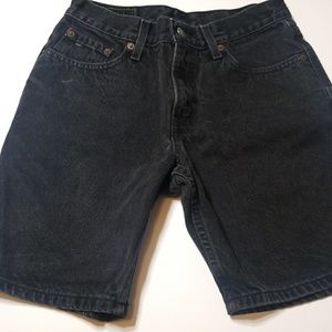 90's Levi Strauss 29 waist Black Denim Shorts